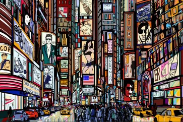 Pop Studio - New York - Times Square Cartoon