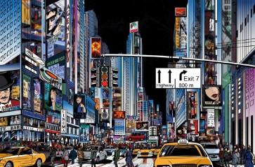 Pop Studio - New York - Times Square Cartoon III