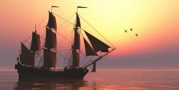 Randy Hudson - Sailing at Sunset