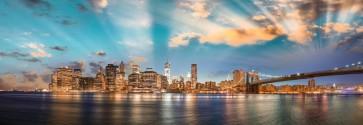 Robert Amar - Sunrays over Brooklyn Bridge, Manhattan