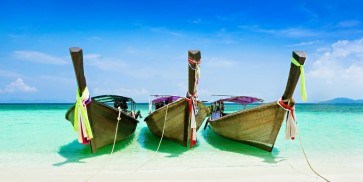 Peppe Vipin - Wooden Boats on Tropical Beach