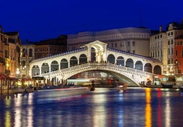 Bernard Zinth - Venice, Night of Rialto Bridge