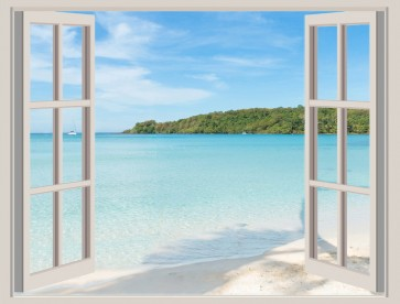 Nicolina Naiara - Window View onto Beach