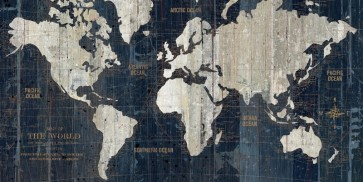 Portfolio WA - Old World Map Blue