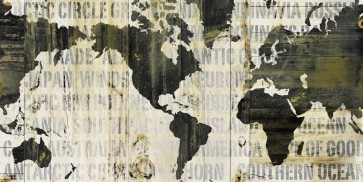 Sue Schlaback - Crate World Map Neutral