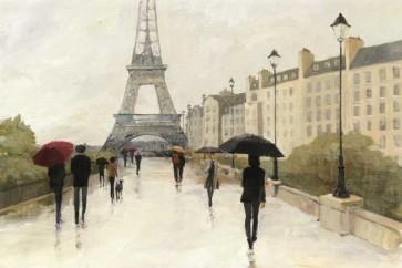 Avery Tillmon - Eiffel In The Rain Marsala Umbrella