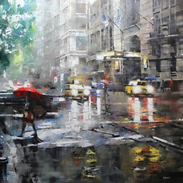 Mark Lague - Manhattan Red Umbrella
