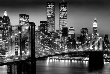 New York - Brooklyn Bridge Black And White