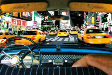 New York - Times square - Taxi ride