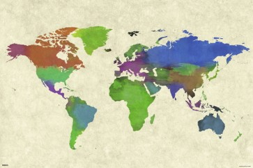 World Map - Water Color