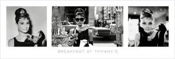 Audrey Hepburn - Tiffany S B&W Triptych