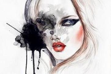 Abstract Beautiful Woman