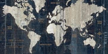 Portfolio WA - Old World Map Blue