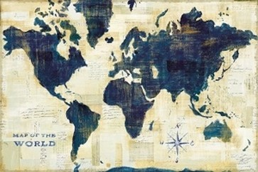 Sue Schlabach - World Map Collage