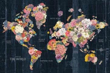Pela Studio - Botanical Floral Map Words