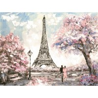 Arthur Heard - Paris View - Eiffel Tower I - Pink