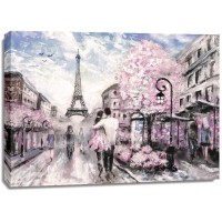 Arthur Heard - Paris View - Eiffel Tower II - Pink
