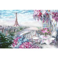 Arthur Heard - Paris View - Eiffel Tower III - Pink