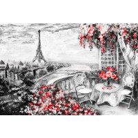 Arthur Heard - Paris View - Eiffel Tower III - Red