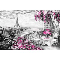 Arthur Heard - Paris View - Eiffel Tower III - Purple