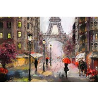 Arthur Heard - Paris View - Eiffel Tower IV - Red