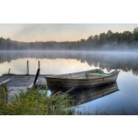 Boat - Misty Morning at the Lake