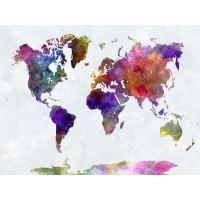 Map Lovers - Purple Aquarelle