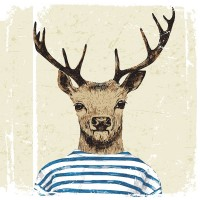 Deer - Striped Shirt