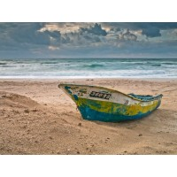 Assaf Frank - Fishing Boat on the shore, Palmachim Beach, Israel