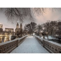 Assaf Frank - Central park Bow Bridge with Manhattan skyline, New York, AF20160117-746