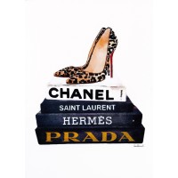Amanda Greenwood - Book Stack Leopard Shoes