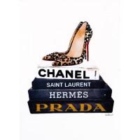 Amanda Greenwood - Book Stack Leopard Shoes
