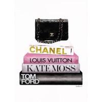 Amanda Greenwood - Book Stack Black Bag