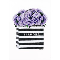 Amanda Greenwood - Bag with Purple Hydrangea