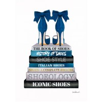 Amanda Greenwood - Teal Bookstack Shoe