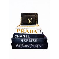 Amanda Greenwood - Book Stack Black Clutch