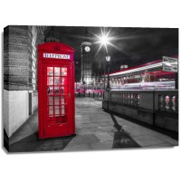 Assaf Frank - Telephone box with Big Ben, London, Uk