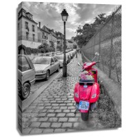 Assaf Frank - Bunch of Roses on scooter, Paris, France