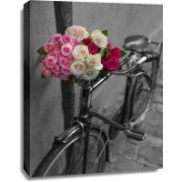 Assaf Frank - Bunch of Roses on bicycle, Paris, France