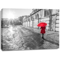 Assaf Frank - Tourist with red umbrella, Malta