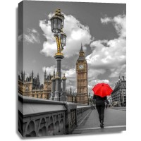 Assaf Frank - Tourist with an umbrella on Westminster Bridge, London, UK