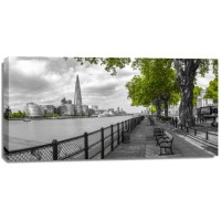 Assaf Frank - Thames promenade with The Shard in background, London, UK