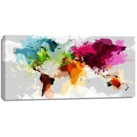 GraphINC - Colourful World Map