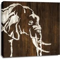 Chris Paschke - White Elephant on Dark Wood