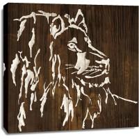 Chris Paschke - White Lion on Dark Wood