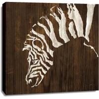 Chris Paschke - White Zebra on Dark Wood