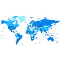 Imrich Edvard - World Map In color