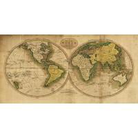 Ioannu Jude - Vinatage World Map