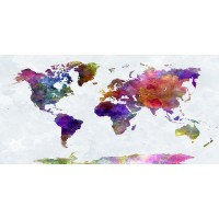 Imrich Edvard - Water Color World Map