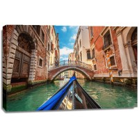 Prim Torkel - View From Gondola on Canals Of Venice In Italy